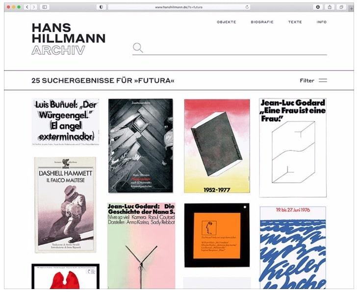 Website für Designpionier Hans Hillmann