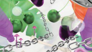 3D Visual Kirschen Ketten grün lila