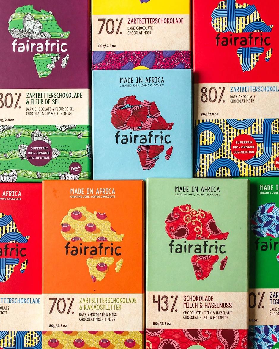 Packagingdesign faire Bio-Schokolade
