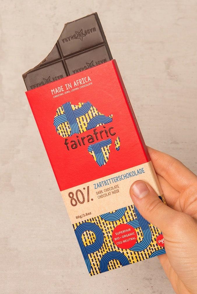 Fairste Schokolade, faires Design