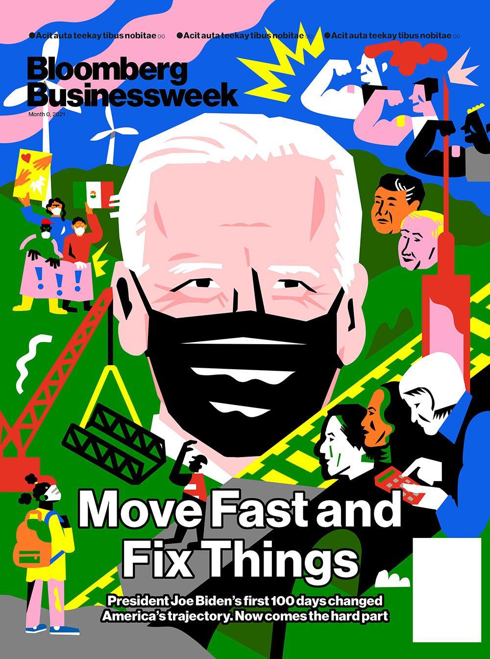Coverillustration von Kati Szilagyi für die Bloomberg Businessweek