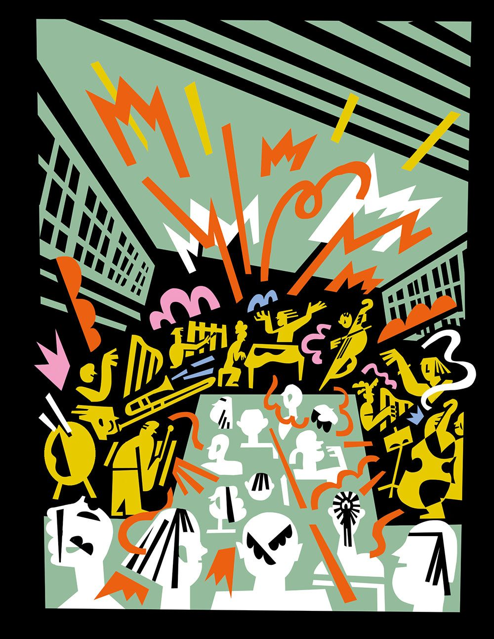 Illustration von Kati Szilagyi für das Elbphilharmonie Magazin