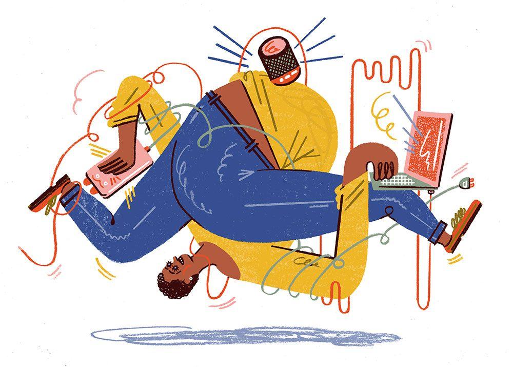 Illustration von Kati Szilagyi für It's Nice That