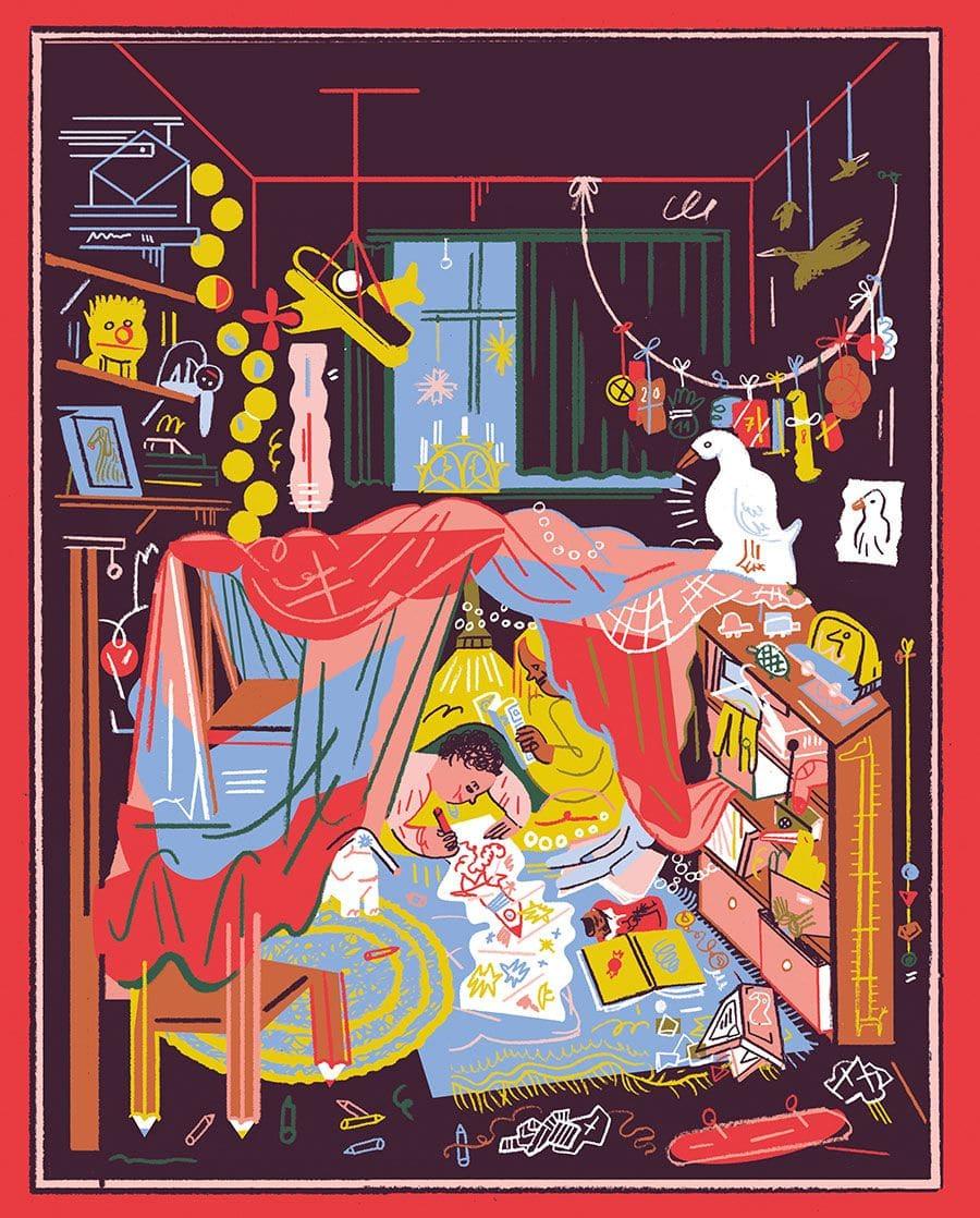 Illustration von Kati Szilagyi für das Wienerin Magazin