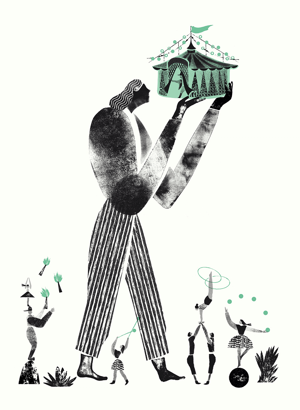 Illustration Yu Kim Seoul Circus Festival