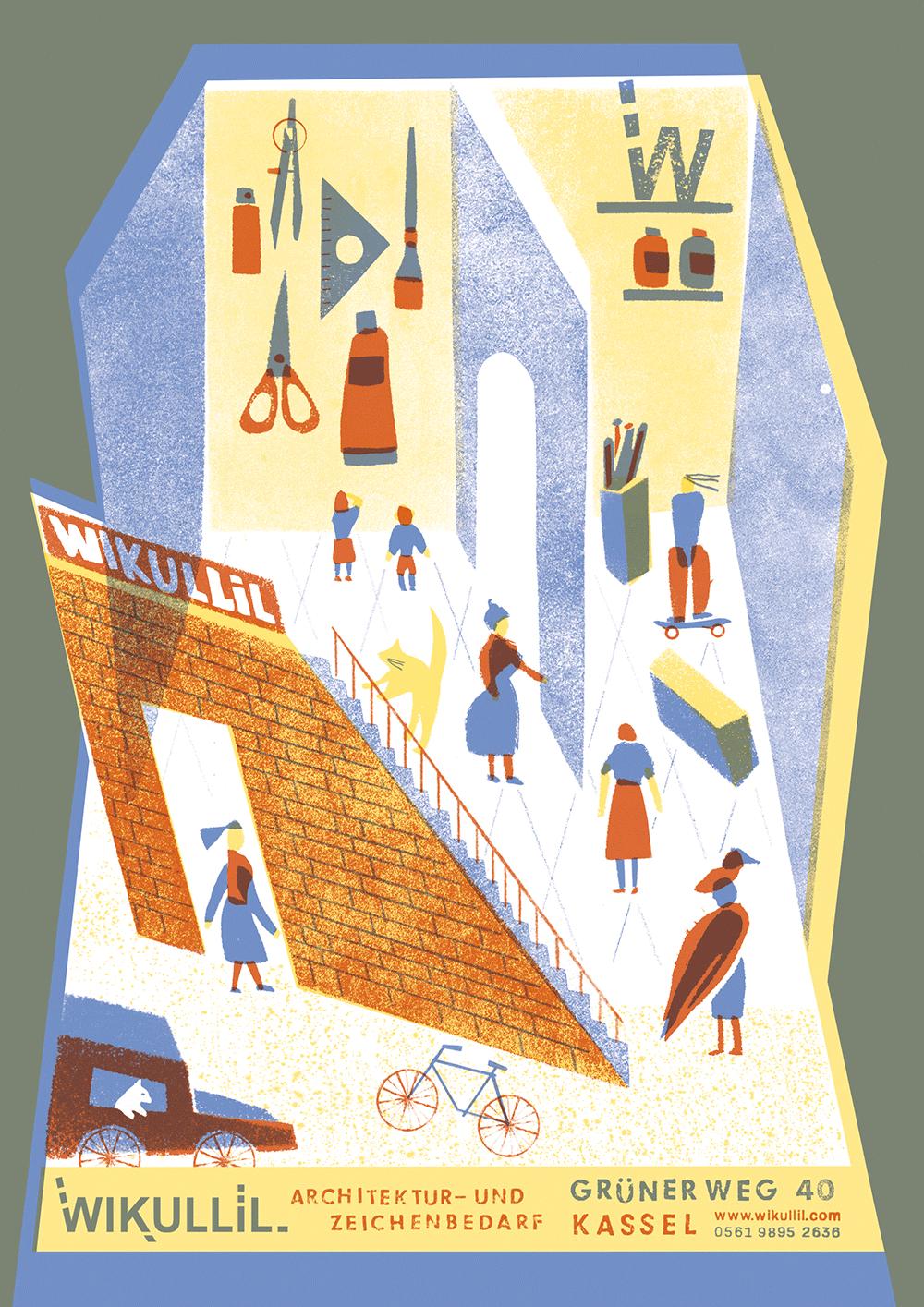 Illustrierte Anzeige von Yu Kim