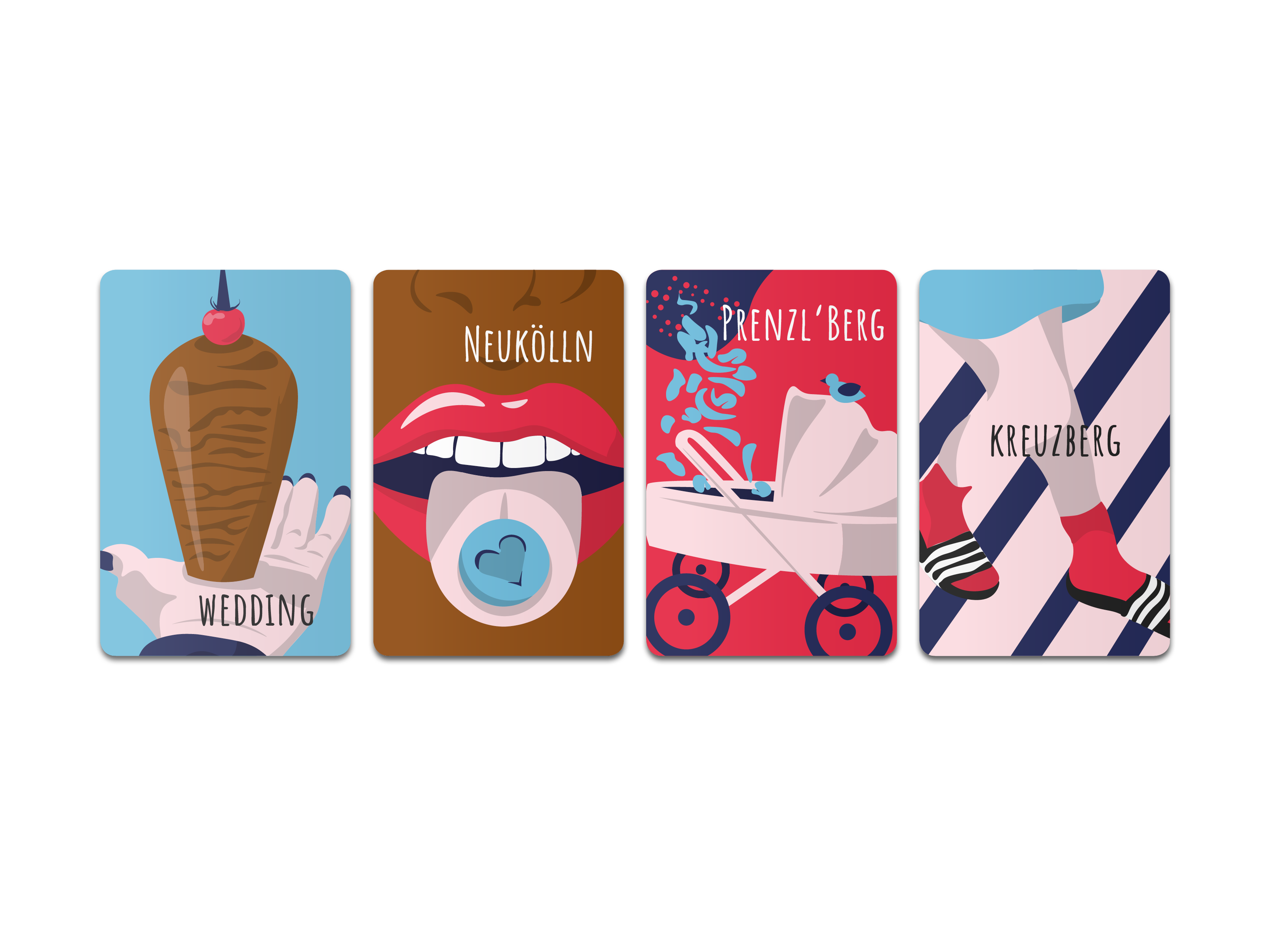 Spielkarten Reclaim 4 Bezirke