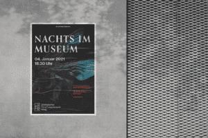 Bachelorarbeit: Plakat für Event eines Museums in neuem Erscheinungsbild