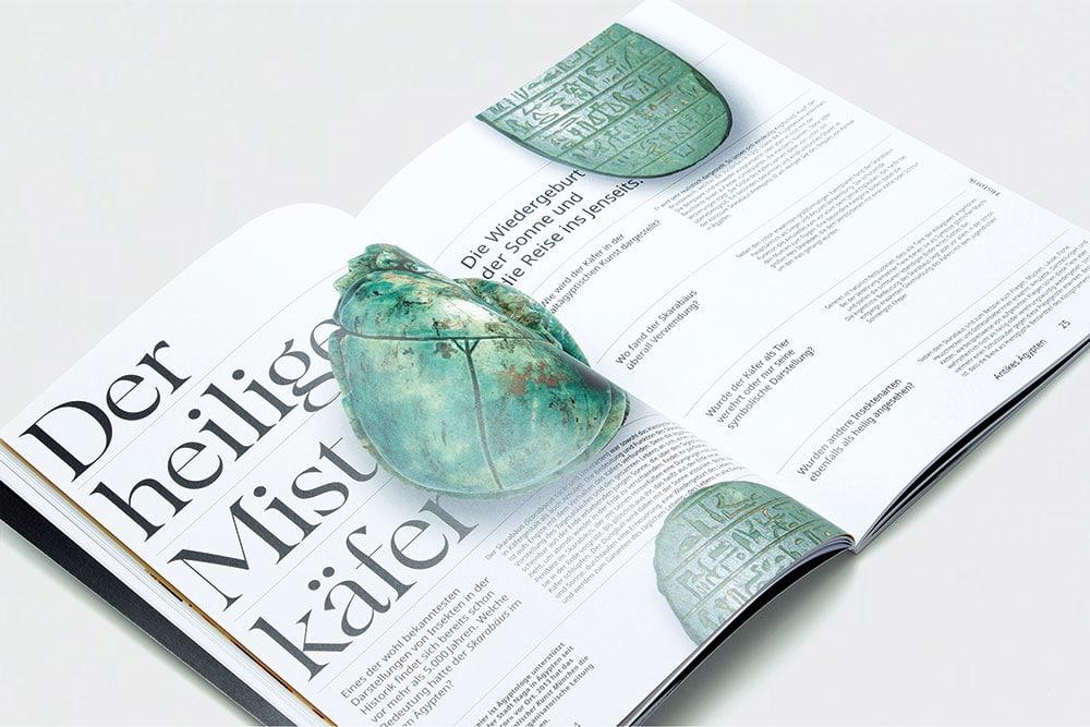 Aufgeschlagenes Magazin Mistkäfer Interview