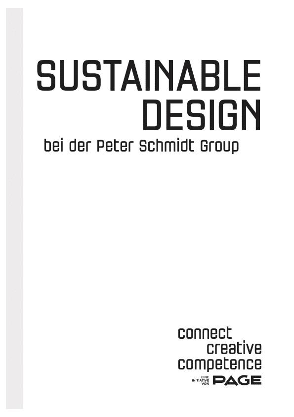 Produkt: Connect Booklet »Sustainable Design bei der Peter Schmidt Group«