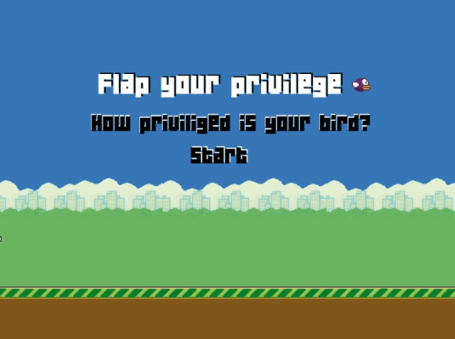 Newsgames-Hackathon, Game-Prototyp Flap your privilege 1