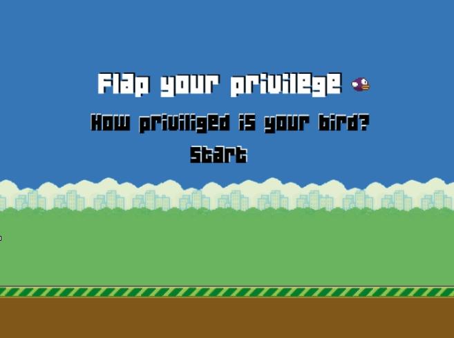 Newsgames-Hackathon, Game-Prototyp Flap your privilege 1