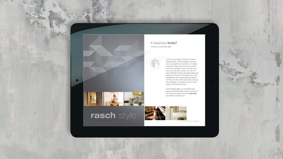 Rasch tapeten corporate design page online
