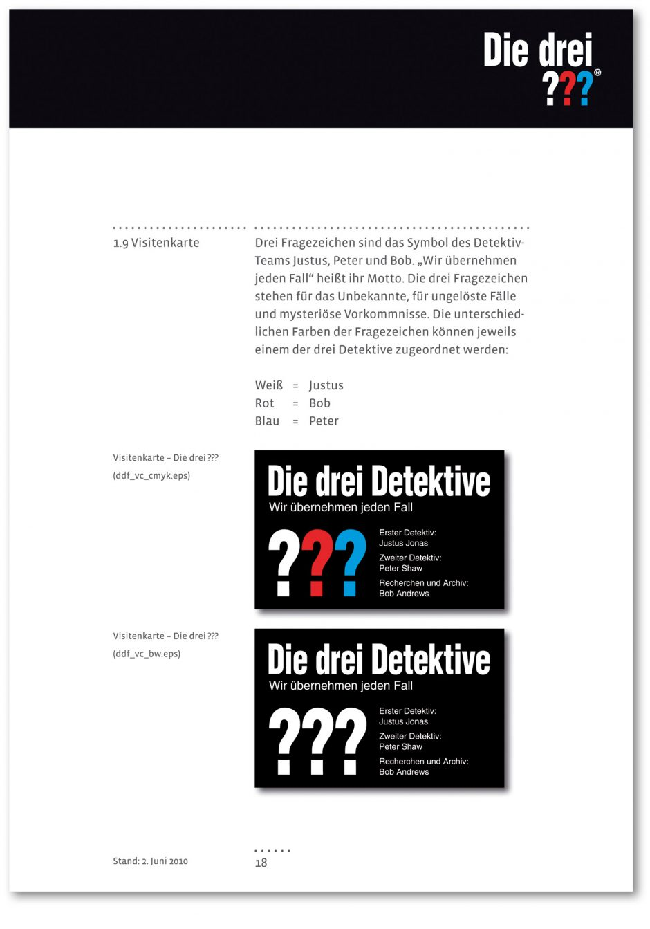 Die Drei Style Guide Page Online